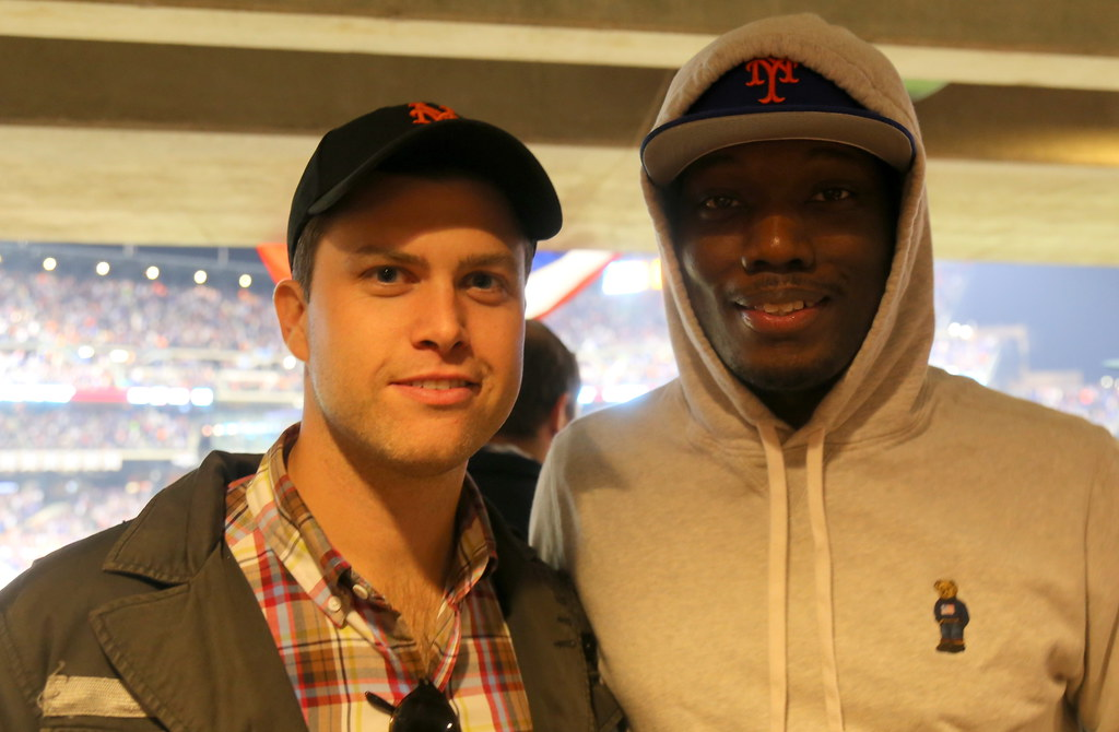 Colin Jost and Michael Che take in the NLDS at Citi Field:… | Flickr