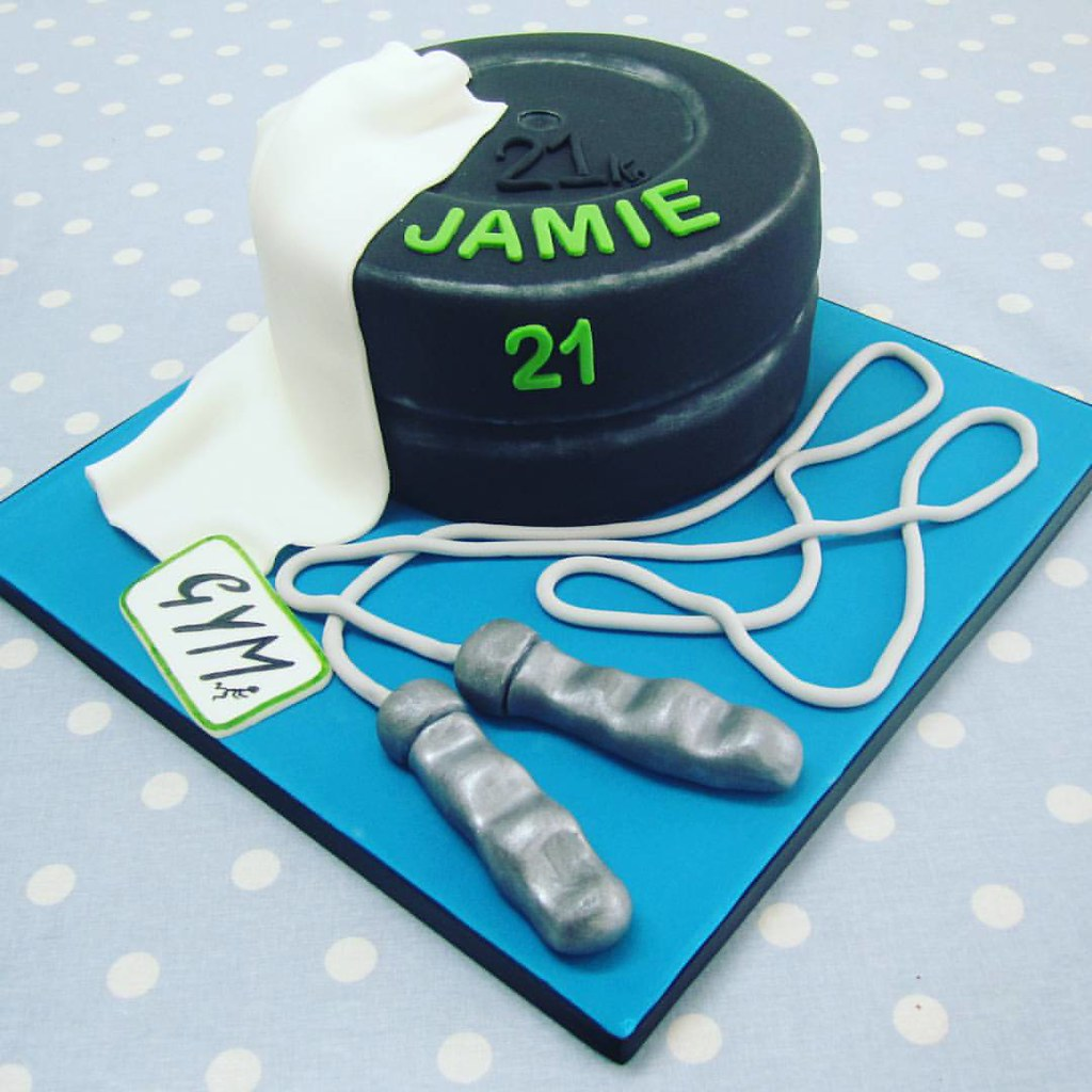 Gym Themed Birthday Cake For A Client Bringing His Love Of The To