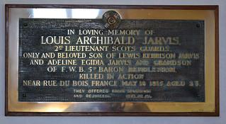 'killed in action near Rue de Bois' - culn brass by Gawthorp & Sons