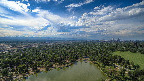 26/365  (Aerial) Denver from Washington Park | by kristoffw
