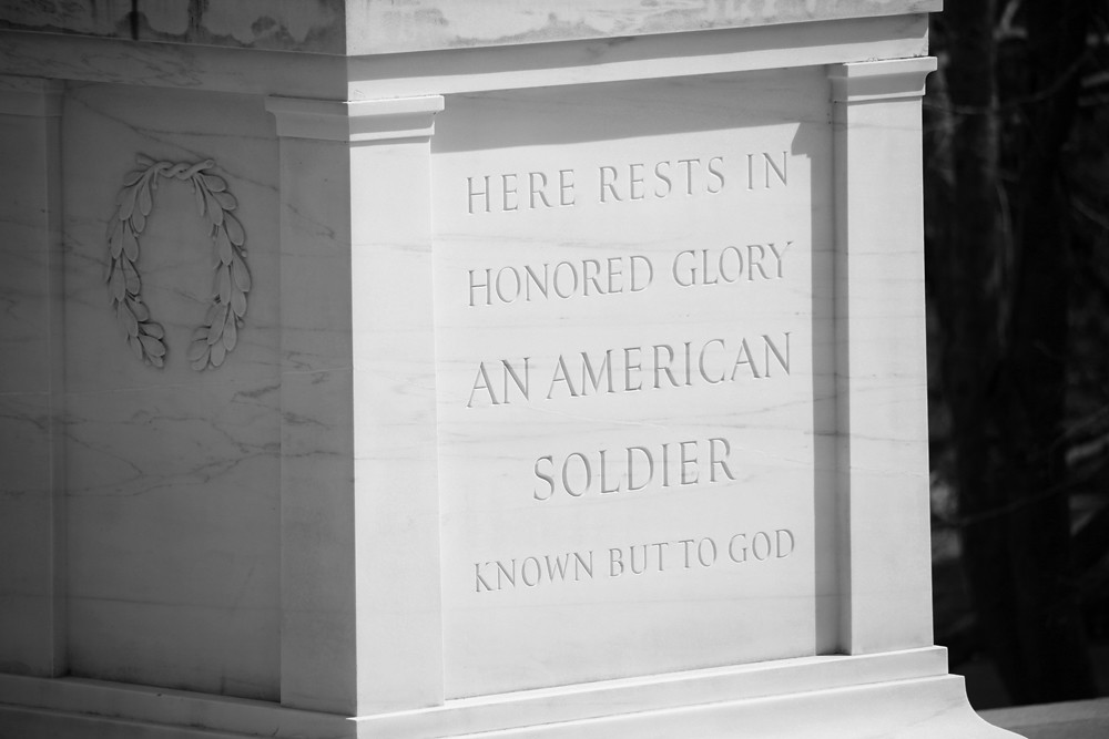 Tomb Of The Unknown Soldier Nw View Detail Bw Arlingto
