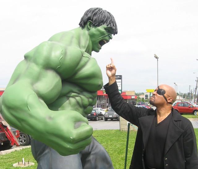 Nick Fury Versus The Hulk