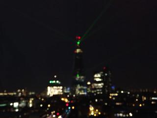 The Shard laser light show | by Benji Carter