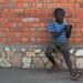 Portrait of a boy in Entebbe