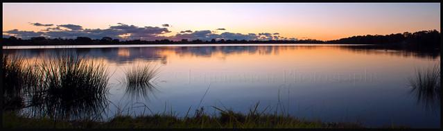 Lake Monger sunset panorama ~Explored~