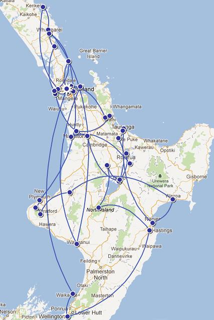 NZ North Island Itinerary