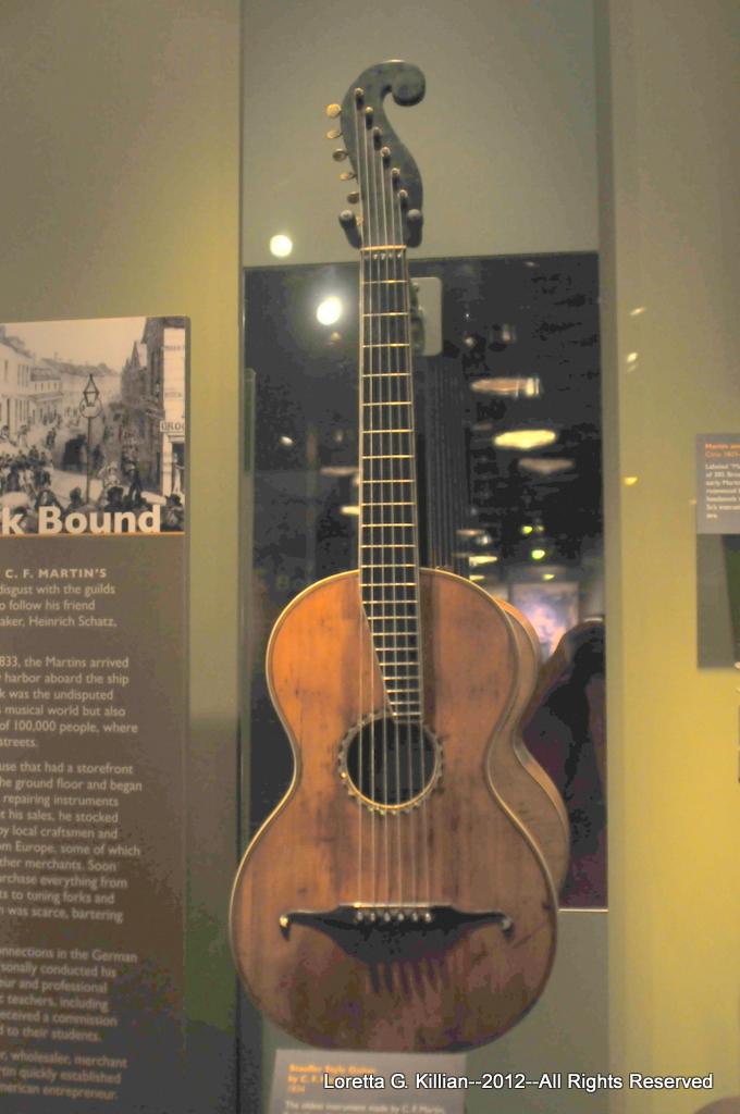 Martin Guitar Factory   Oldest existing Martin guitar made b