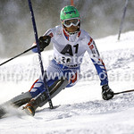 Maxime Tissot of France skiing in first run of men slalom race of Audi FIS Alpine skiing World cup in Flachau, Austria. Men slalom race of Audi FIS Alpine skiing World cup, which replaced canceled Levi race, was held in Flachau, Austria on Wednesday, 21st of December 2011.