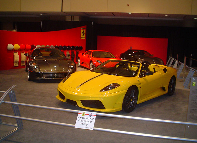 Ferraris on display at 2009 Canadian International AutoShow