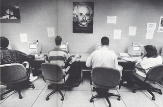 The microcomputer lab during finals week in 1992