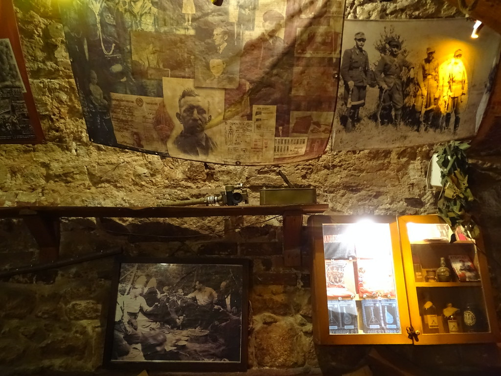 Interior of Kryjivka Restaurant with Nationalist-Wartime Decor - Lviv - Ukraine - 02