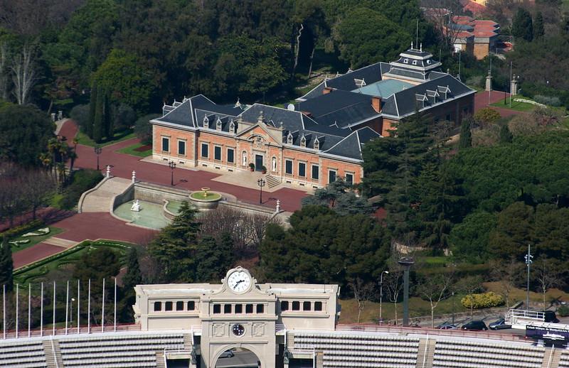Olympic stadium & Albeniz House. Montjuic, Barcelona