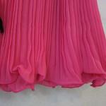 50406(剪标)欧根莎钉珠压折裙(玫红.绿.橙黄)S.M.L   胸88   长80 (2)