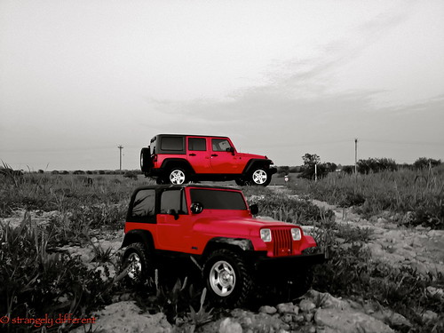 sunset red hardtop toy evening texas jeep offroad 4x4 tamiya unlimited rc radiocontrolled wrangler 2011 sanger jeepthing strangelydifferent