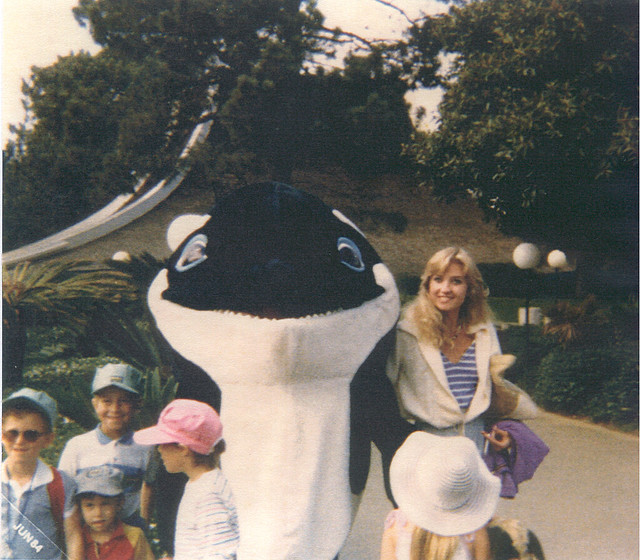 Cindy at Sea World, June 1984