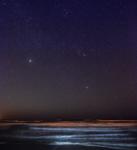 Night Sky at Galveston Beach Texas | by mkphotonet