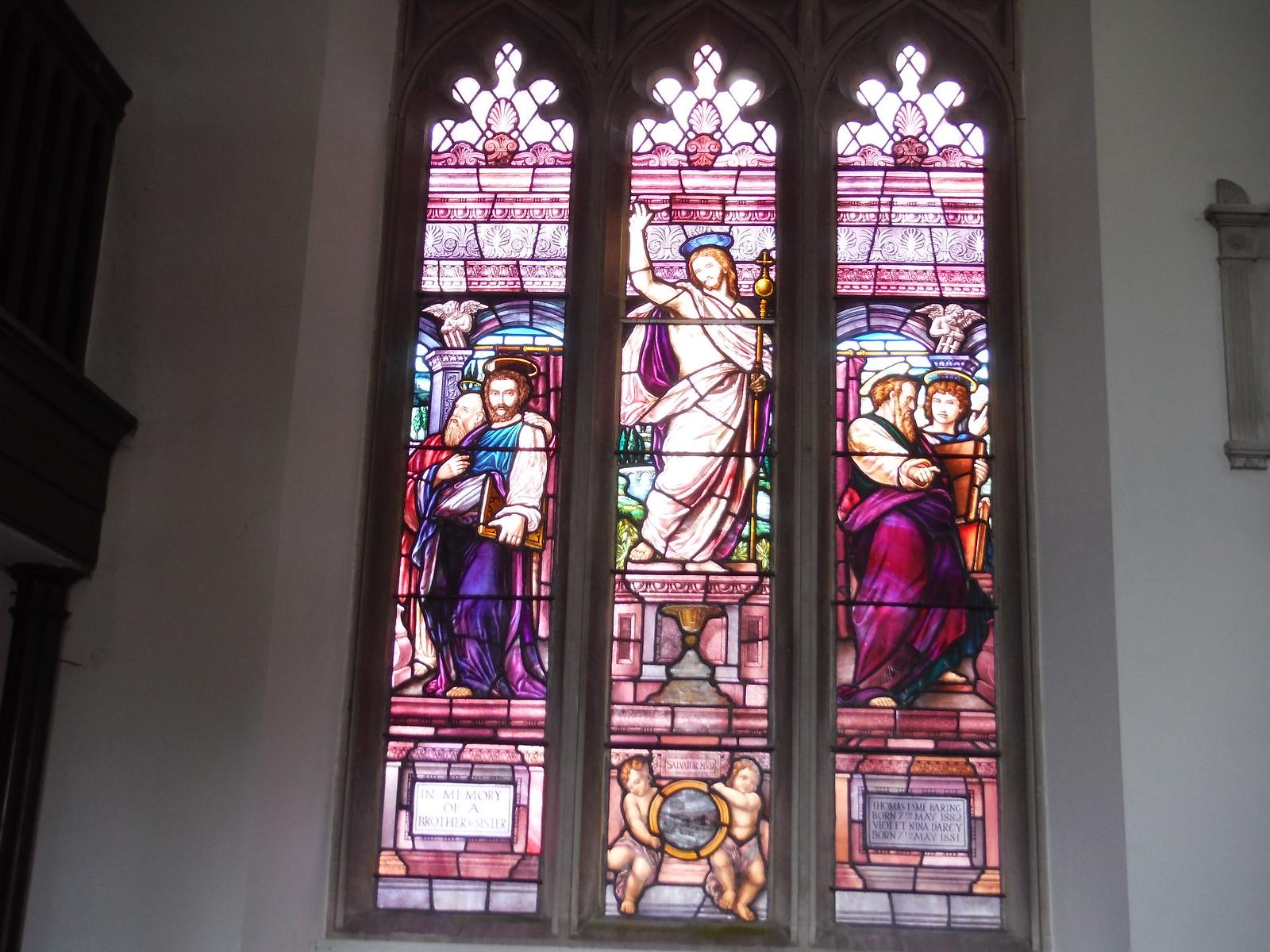 Stained Glass Window, St. Peter, West Tytherley SWC Walk 265 - Dean to Mottisfont & Dunbridge