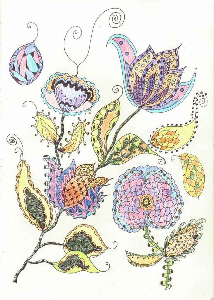 Zentangle Flowers Please Visit My Website Wwwthink Differ Flickr