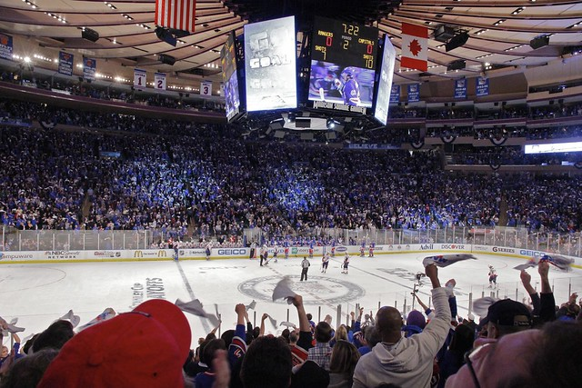 Rangers vs Capitals - Game 1 - April 28 2012 - Madison Square Garden