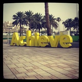 'Achieve' ad at Al Corniche, Doha, Qatar | by debbietingzon