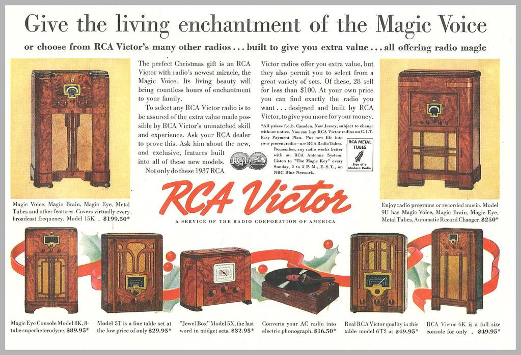 1936 RCA VICTOR CHRISTMAS AD | maria | Flickr