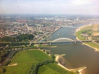 Nijmegen vanuit de lucht   by reinketelaars