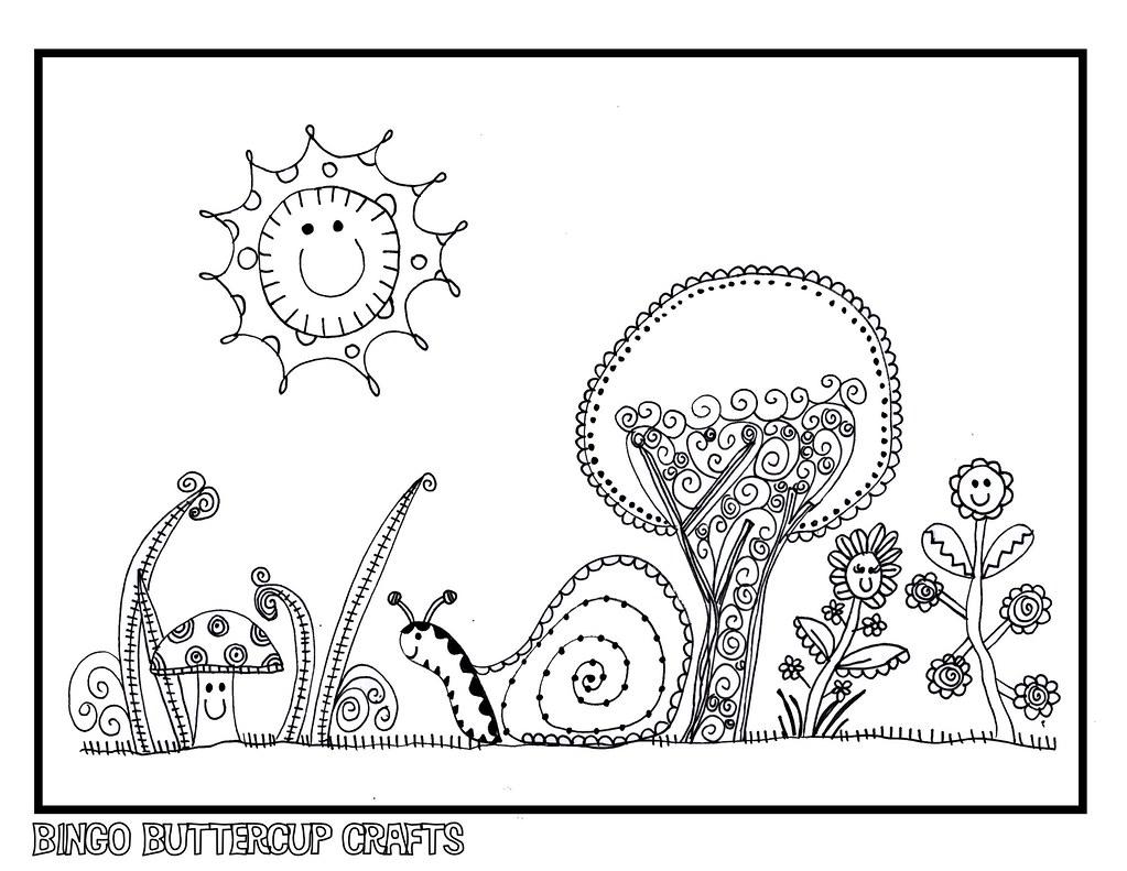 Adult Coloring Pages Whimsical Flowers and Swirls Design | Etsy | 791x1023