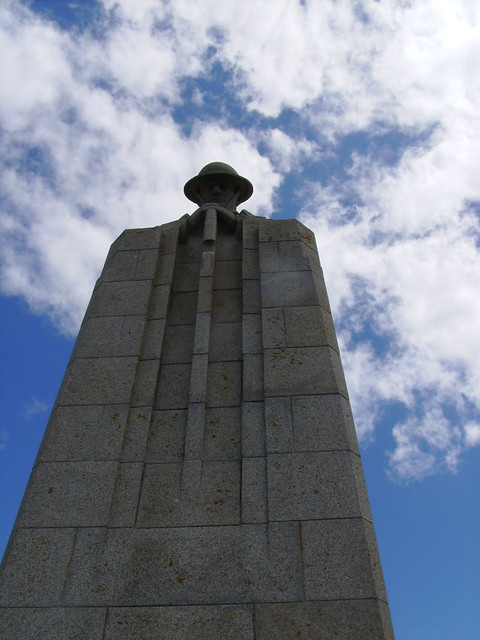 The Brooding Soldier - Memorial to the Canadians at Vancouver Corner (Langemark, Belgium)
