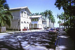 Government buildings at the affluent business end of Puerto Limon