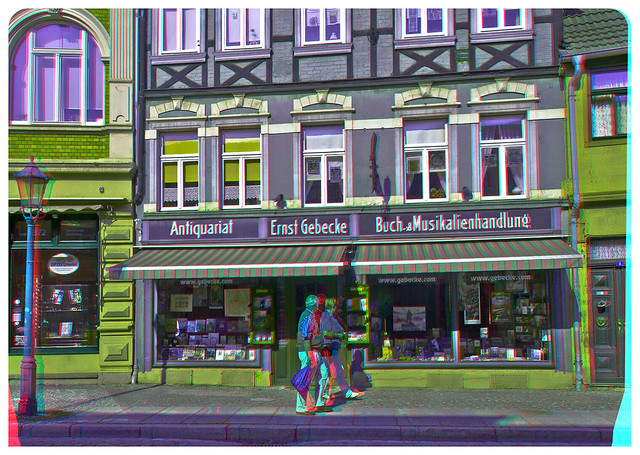 Second Hand Books & Record Shop 3D ::: HDR Anaglyph Stereoscopy