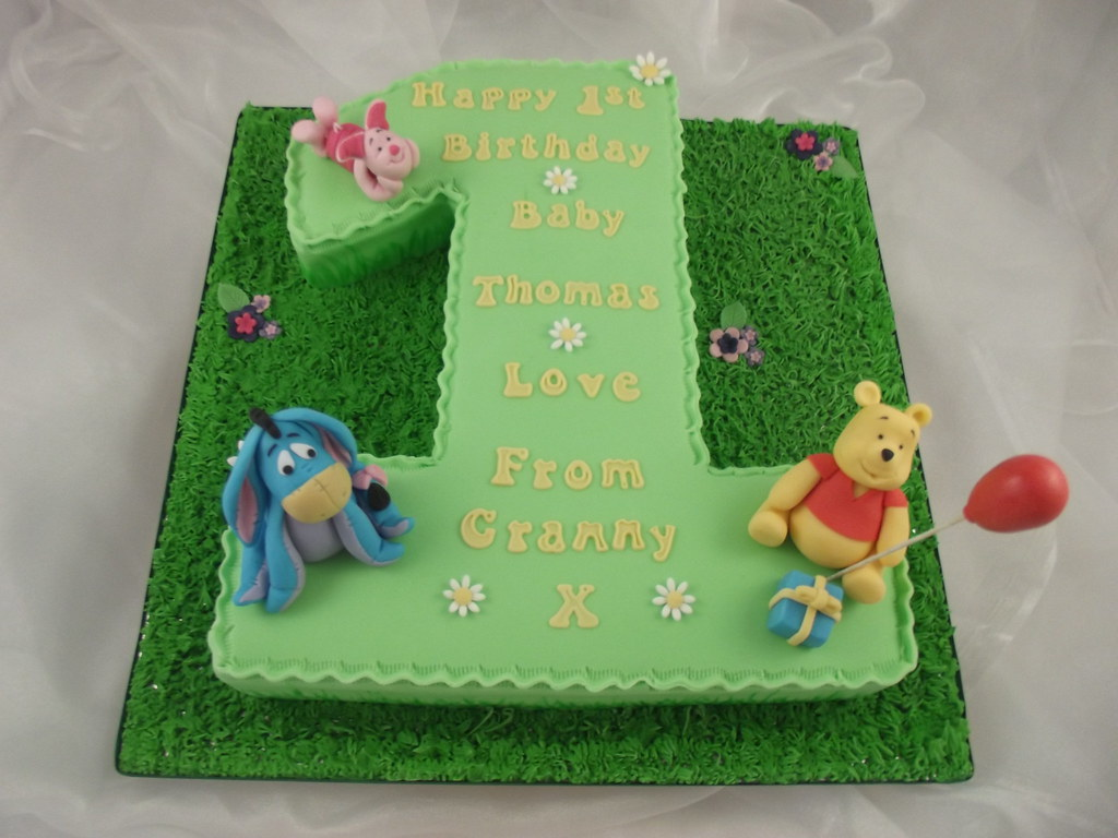 Awesome Winnie The Pooh And Friends First Birthday Cake A Photo On Funny Birthday Cards Online Aeocydamsfinfo