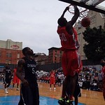 St. John's Chris Obekpa dunks it for West 4th at #NikeTOC. #stjbb