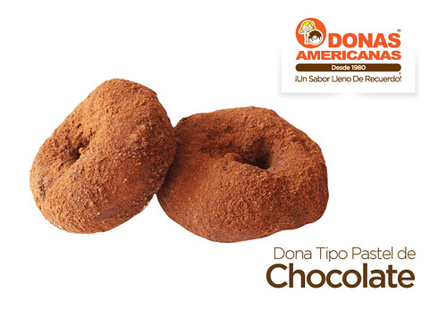 Dona Tipo Pastel de Chocolate   by donas_americanas