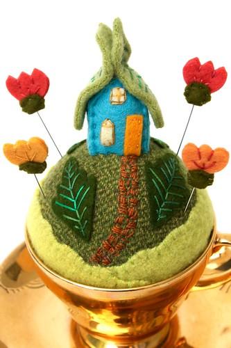 tiny world fairy house- gold   by Mimi K