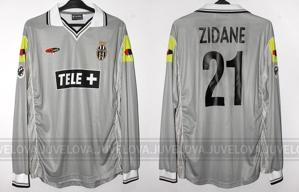 new product 90bde 30e98 2000/01 Away Serie-A   Zinedine Zidane   Match worn / issued ...