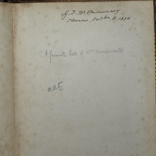 Inscription in Works of Gray 1827