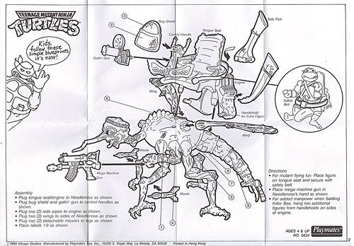 """""""MEGA MUTANTS"""" TEENAGE MUTANT NINJA TURTLES :: NEEDLENOSE / instructions (( 1990 )) by tOkKa"""