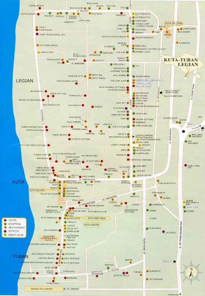 Map Kuta Tuban Legian Divodurum Flickr