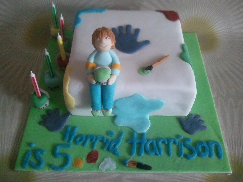 Horrid Henry Themed Birthday Cake
