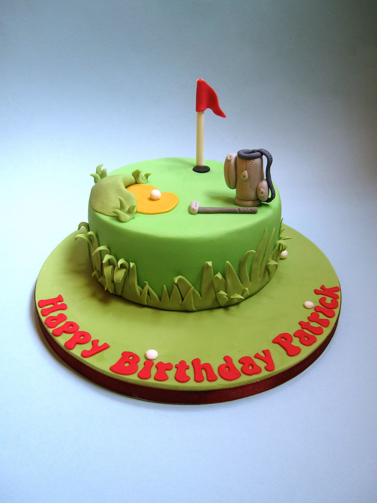 Admirable Golf Birthday Cake A Golf Themed Birthday Cake For My Frie Flickr Birthday Cards Printable Trancafe Filternl