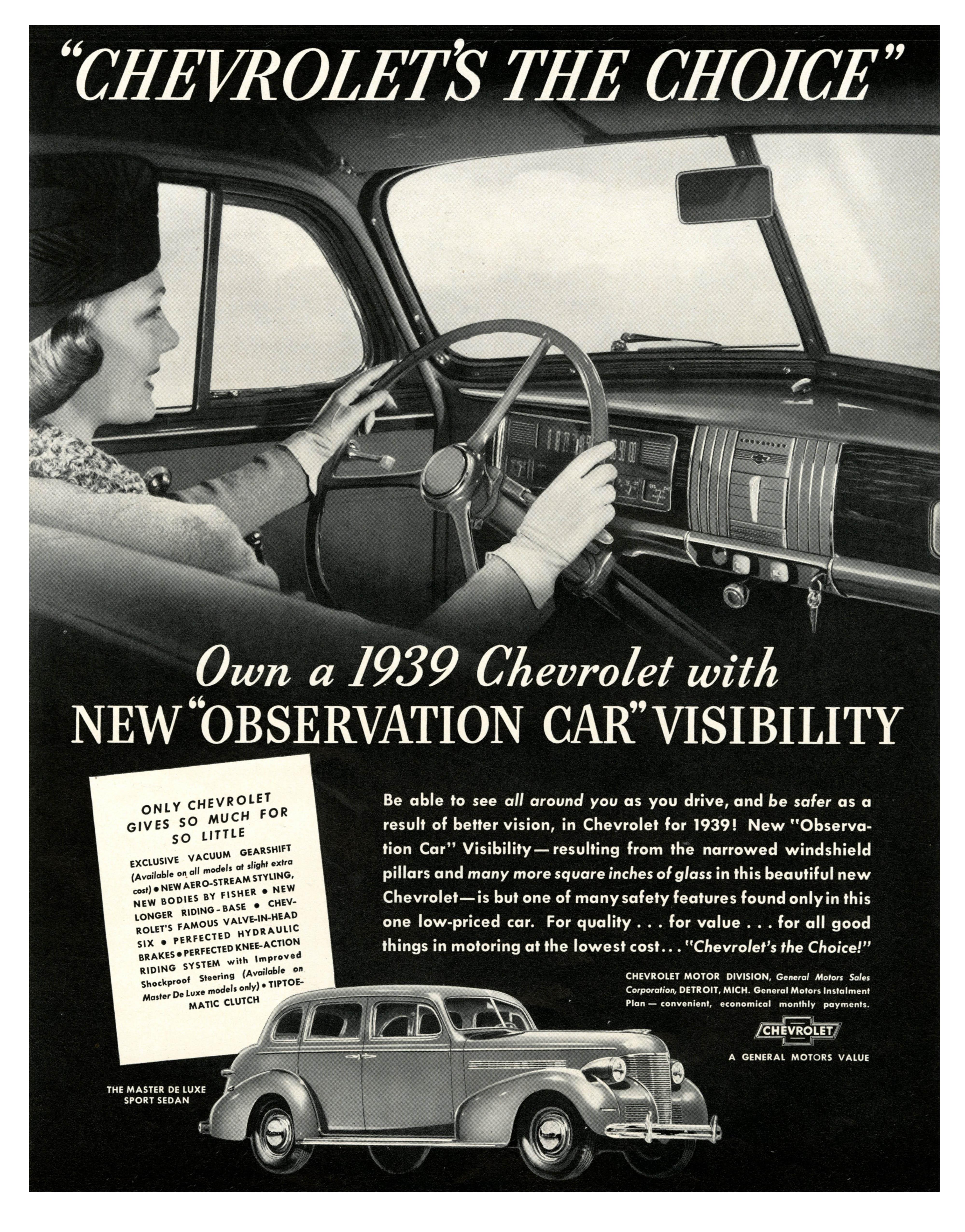 1939 Chevrolet Master De Luxe Sport Sedan