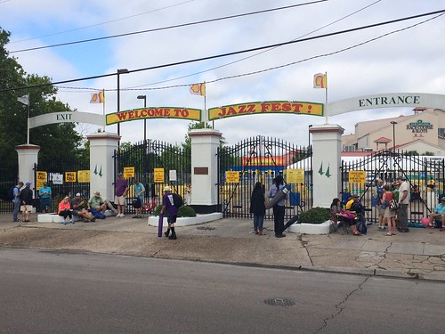 Front gates at the Fair Grounds on Day 1 of Jazz Fest 2016