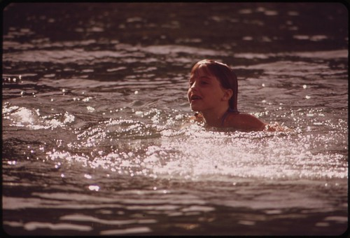 Swimming in Havasu Lake, May 1972 | by The U.S. National Archives