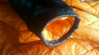 Sleeve of Jonjo nylon snorkel parka