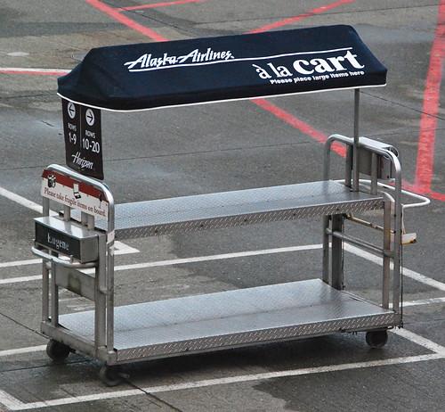 224 La Cart Alaska Airlines Baggage Cart Seattle Tacoma