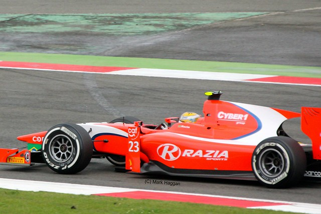 Luiz Razia in his Arden Racing GP2 car at Silverstone