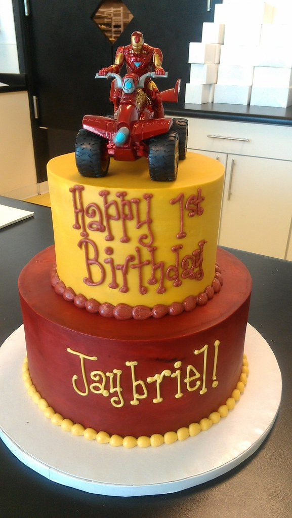 Iron Man Inspired Birthday Cake