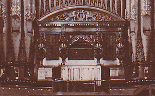 Leeds Town Hall Organ  1910c  | Close up of organ console  T