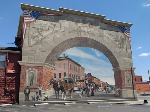 street ohio art festival wall painting pumpkin mural eric paint view parking lot 2006 oh past 2007 1903 realistic henn circleville