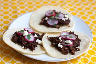 oaxacan mole chicken tacos   by liminaldreams